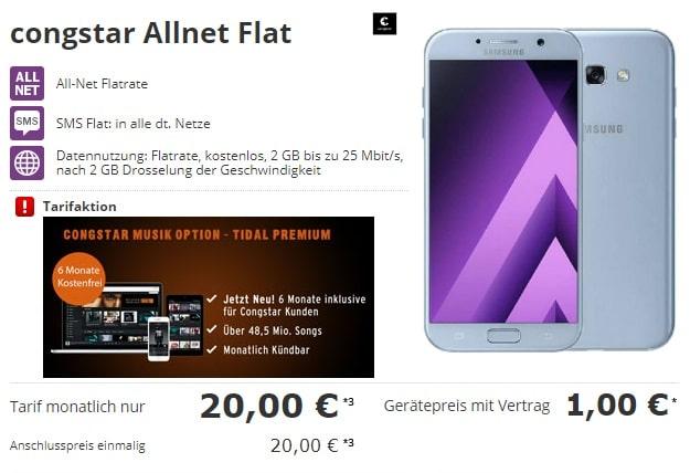 Samsung Galaxy A5 (2017) + congstar Allnet-Flat bei Talkthisway
