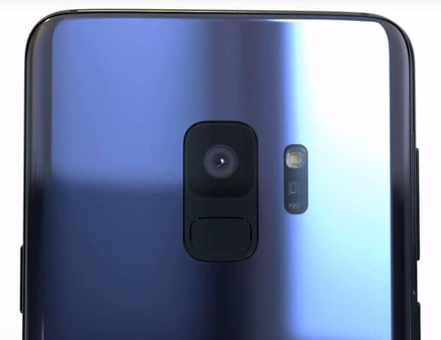 Handy-Kamera des Samsung Galaxy S9