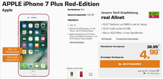 Apple iPhone 7 Plus Red-Edition