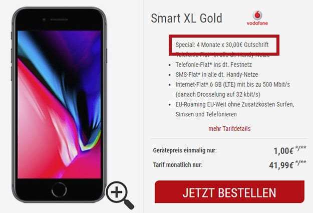 i8 + Vodafone Smart XL