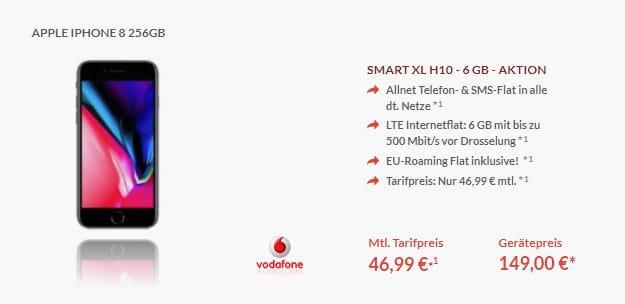 iPhone 8 + Vodafone Smart XL