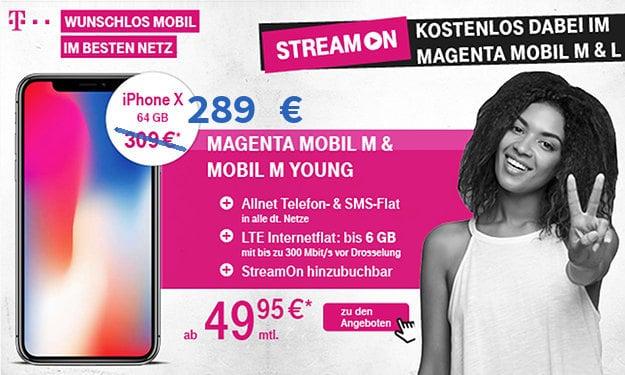 iPhone X + Magenta Mobil M