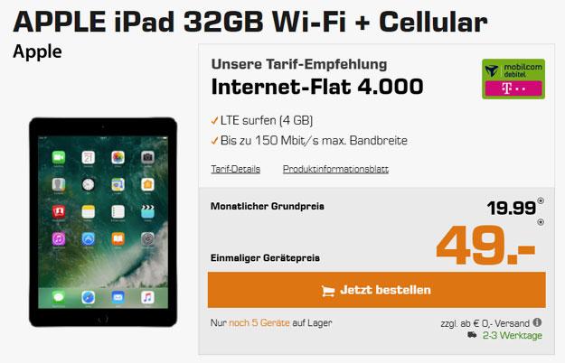 apple ipad wifi cellular zur 4 gb lte internet flat md. Black Bedroom Furniture Sets. Home Design Ideas