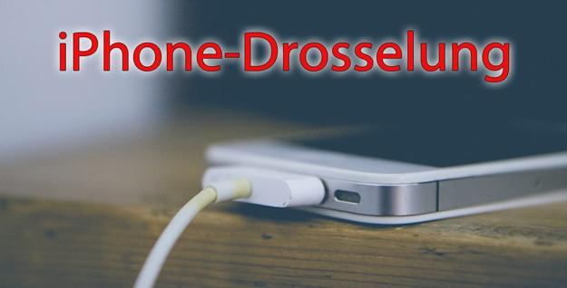 Apple iPhone 6, 6S, 7 und SE - gedrosselt Leistung, wenn Akku schwach, Lösungen für Problem