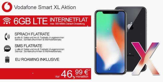 Das Neuste Apple Flaggschiff Ist Im Deal IPhone X Vodafone Smart XL Erhaltlich Die Monatliche Grundgebuhr Betragt Bei Den Aktuellen Deals Ab 4699 EUR