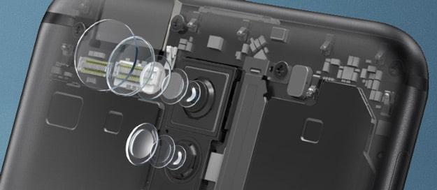 Aufbau der Dual-Kamera des Huawei Mate 10 Lite im Test