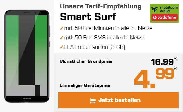 Huawei Mate 10 Lite mit Vodafone Smart Surf (md)