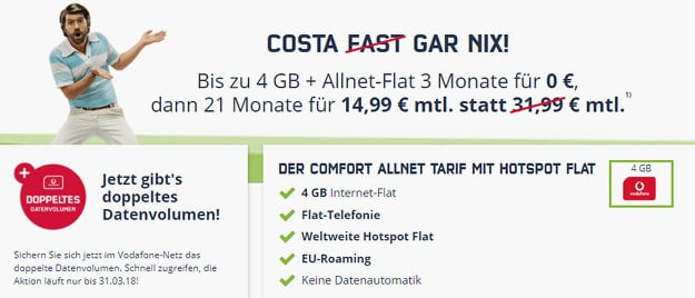 md Vodafone Comfort Allnet mit 4GB