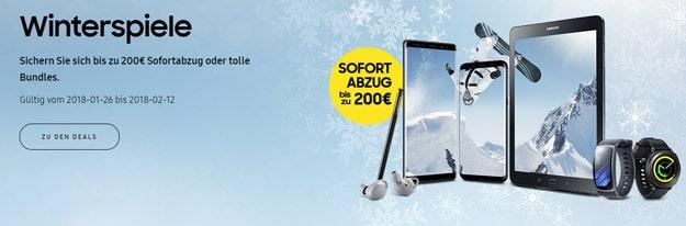Samsung mit neuer Aktion - bis zu 200 € Sofortabzug auf Galaxy Note 8, S8, S8 Plus & Duos