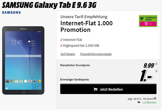 samsung galaxy tab e 9.6 internet-flat telekom