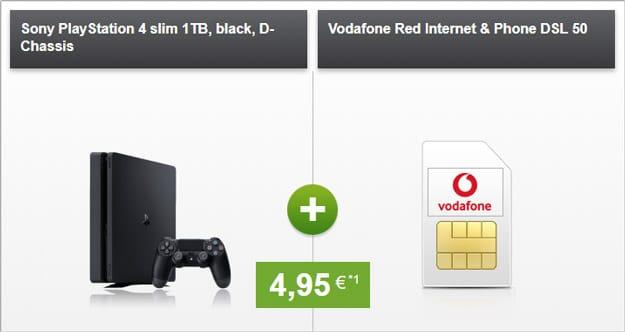 Vodafone Red Internet & Phone DSL mit Playstation Slim 1 TB für 4,95 € Zuzahlung