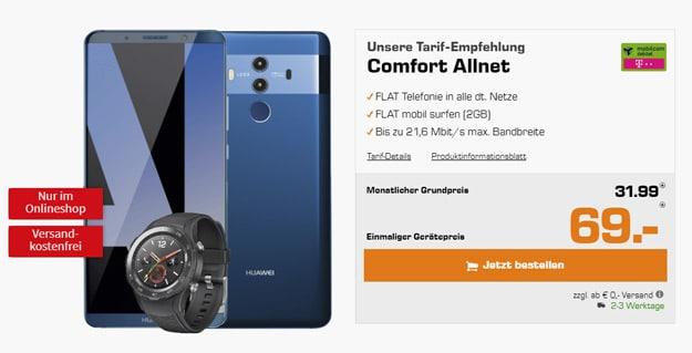 Huawei Mate 10 Pro mit mobilcom-debitel Telekom Comfort Allnet