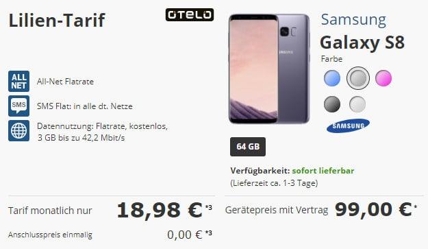 Galaxy S8 + Lilien-Tarif