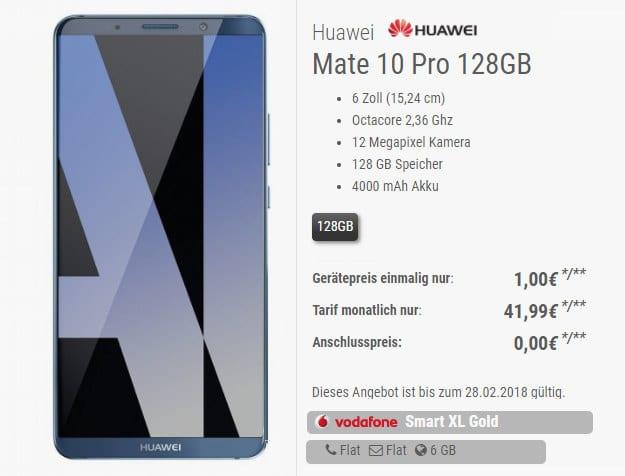 Huawei Mate 10 Pro + Vodafone Smart XL