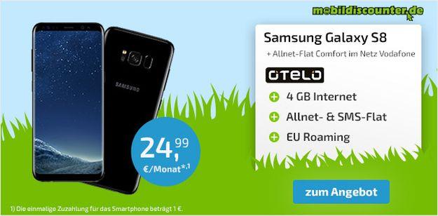 Samsung Galaxy S8 + otelo Allnet Flat Comfort bei mobildiscounter