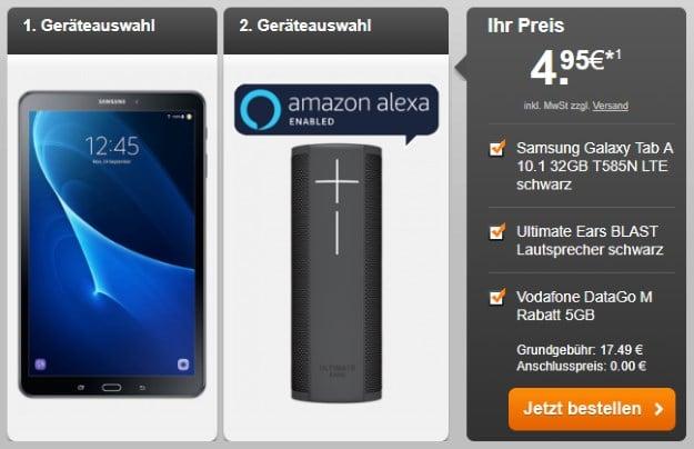 Samsung Galaxy Tab A 10.1 LTE + Vodafone DataGo M bei Handyflash