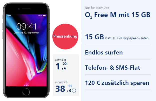 iPhone 8 + o2 Free M Young