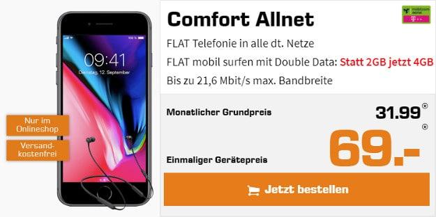 iPhone 8 + Comfort Allnet Telekom mobilcom-debitel