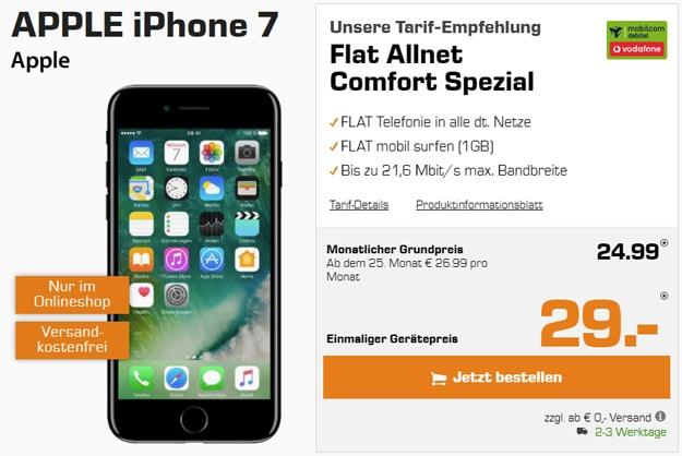 Apple iPhone 7 32GB mit Vodafone Flat Allnet Comfort (md)