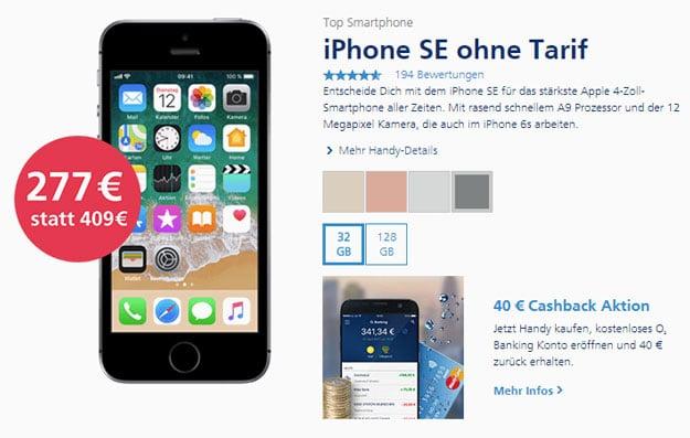 Apple Iphone Se Ohne Vertrag Für 277 Bei O2 Handyhasede