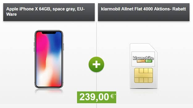 iphone x klarmobil allnet-flat 4 gb