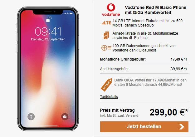 Apple Iphone X Vodafone Red M Für Eff 1266 Mtl