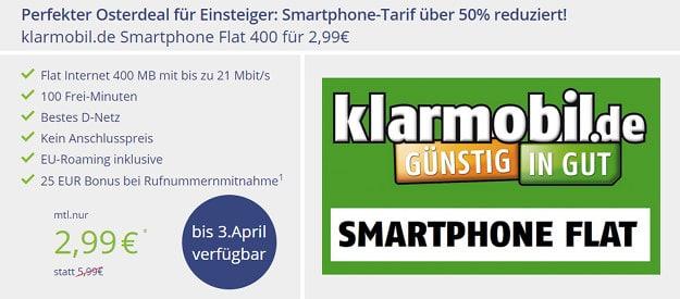 klarmobil Smart Flat 400 Telekom