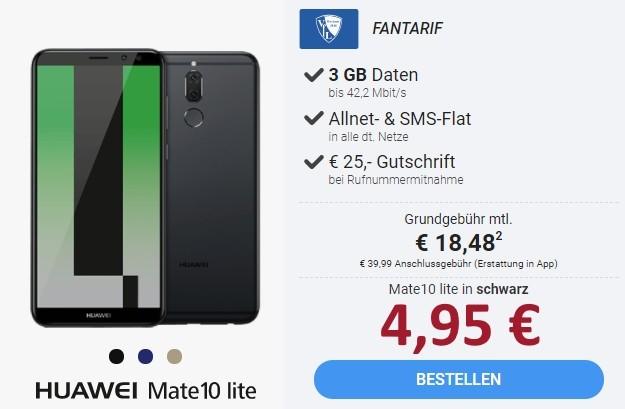 Huawei Mate 10 Lite + otelo VfL-Tarif bei Sparhandy