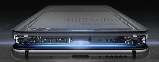 Huawei Mate 10 Pro, der Aufbau des Smartphones