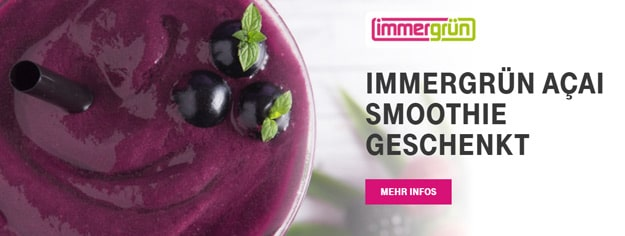 Telekom Mega Deal mit gratis immergrün Smoothie