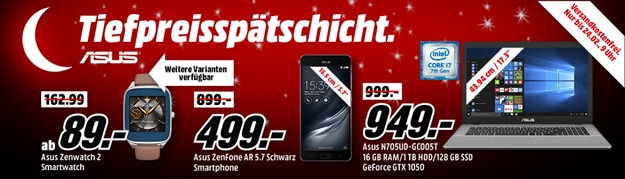 MediaMarkt Tiefpreisspätschicht - Smartphone, Handy, Tablet, Notebook, Smartwatch günstig kaufen