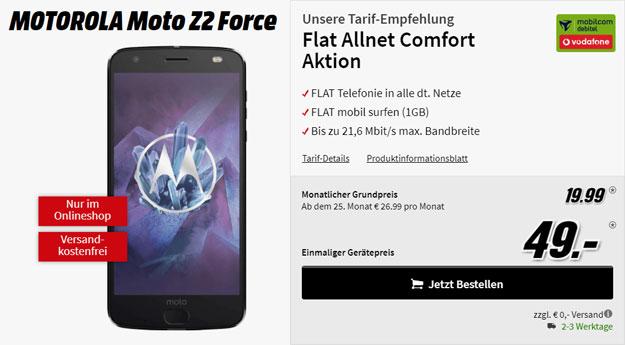 moto z2 force vodafone flat allnet comfort md