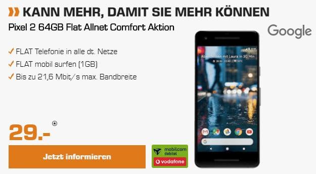 pixel 2 + flat allnet comfort vodafone