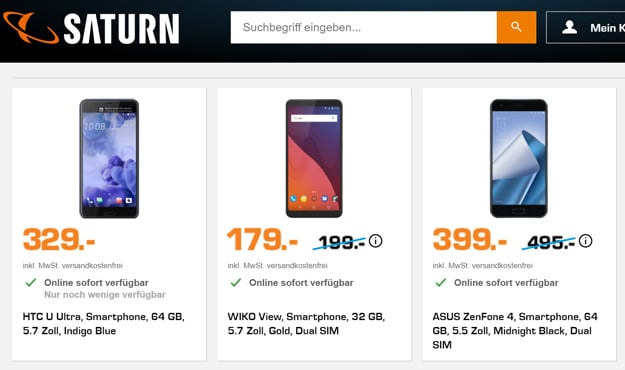 Saturn Smartphone Purzel Preise