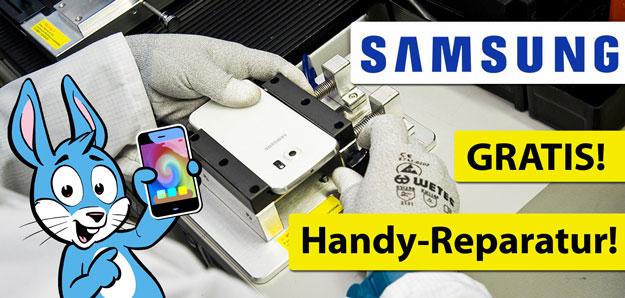 Samsung Handy-Reparatur gewinnen - Handyhase WhatsApp News Gewinnspiel