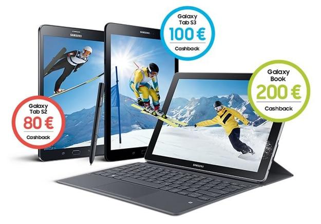 Samsung Tablet Aktion mit bis zu 200 € Cashback