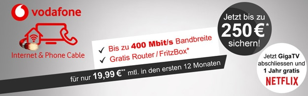 Vodafone Internet & Phone Cable günstig bestellen