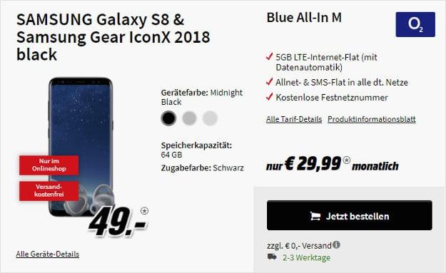 Galaxy S8 + o2 Blue All-in M