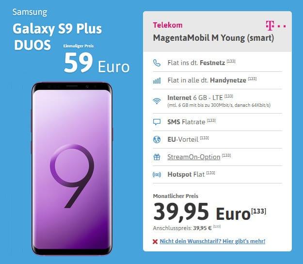 Galaxy S9 + Mobil M