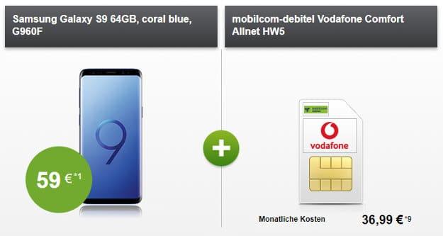 Galaxy S9 + Vodafone Comfort Allnet (md)