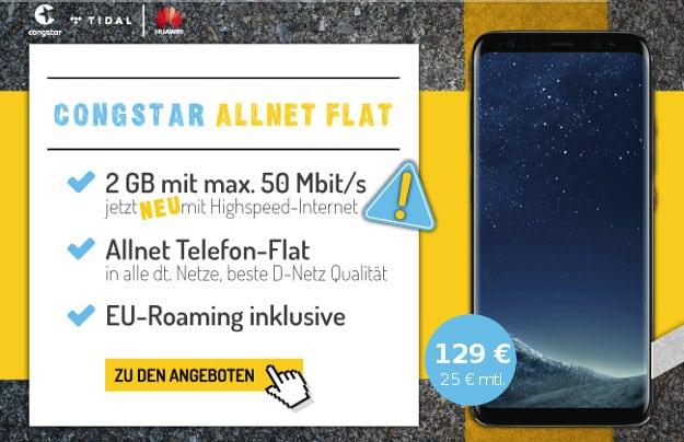 S8 + congstar Allnet-Flat