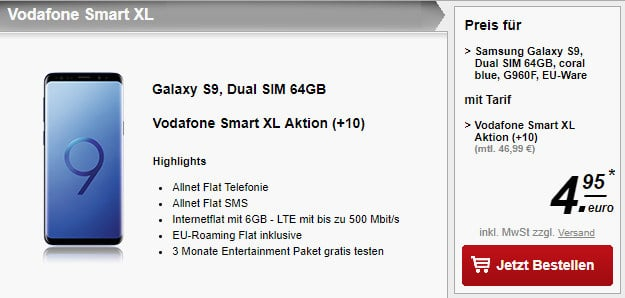 S9 + Vodafone Smart XL