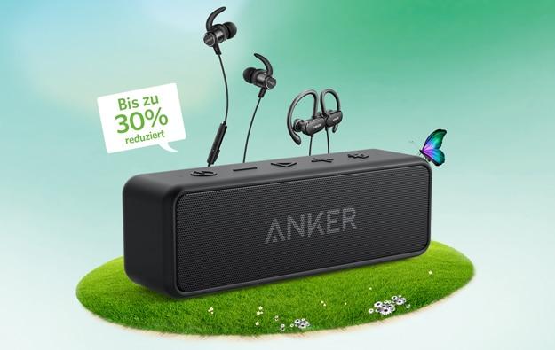 Anker Audio Aktion mit SoundCore, 2, SoundCore Boost und vielen weiteren Produkten