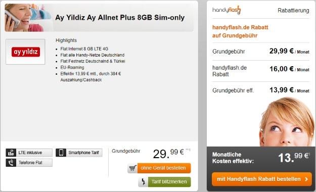 Ay Yildiz Ay Allnet Plus bei Handyflash