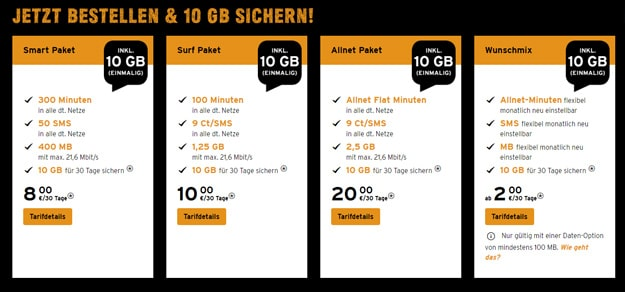 congstar Prepaid Aktion: Gratis 10 GB Datenvolumen