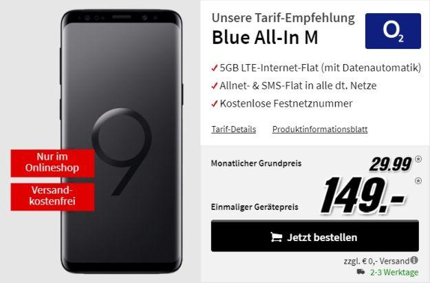 Samsung Galaxy S9 / S9 Plus + o2 Blue All-in M bei MediaMarkt