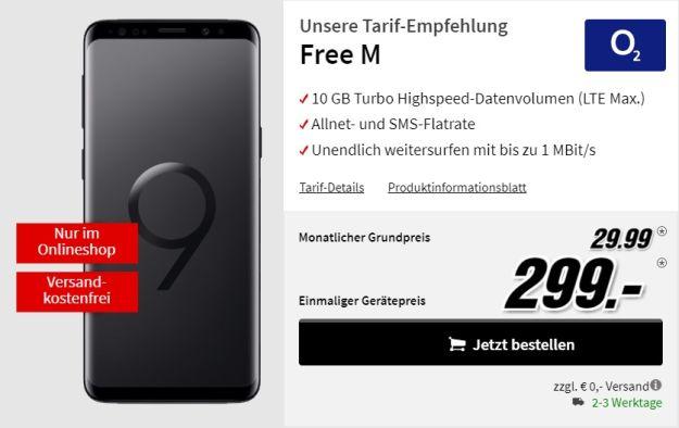 Samsung Galaxy S9 + o2 Free M bei MediaMarkt