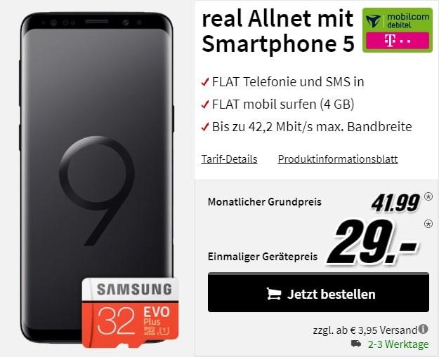 Samsung Galaxy S9 real Allnet Telekom (md) MediaMarkt