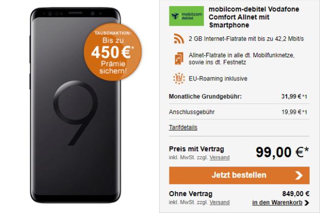 Samsung Galaxy S9 für 99 € bei LogiTel
