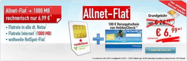 Vodafone Flat Allnet Comfort (md) mit Holidaycheck-Gutschein